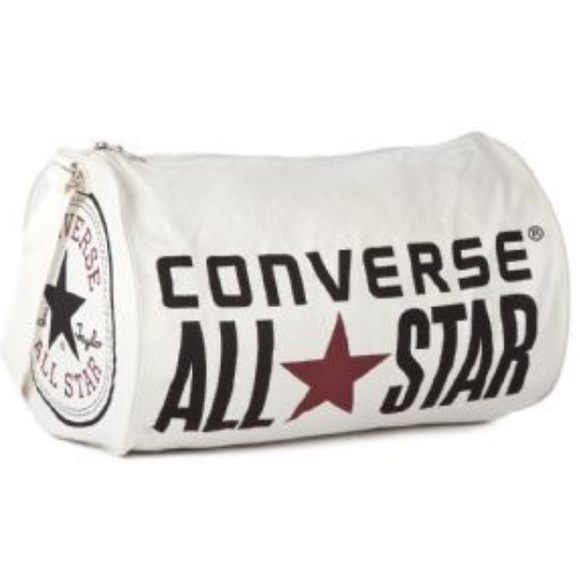 Converse Other - Converse all star white barrel duffle   duffel bag 52d03a97728e4